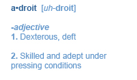 definition of Adroit